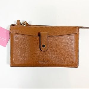 NWT Kate Spade Small Tab Crossbody Brown Leather